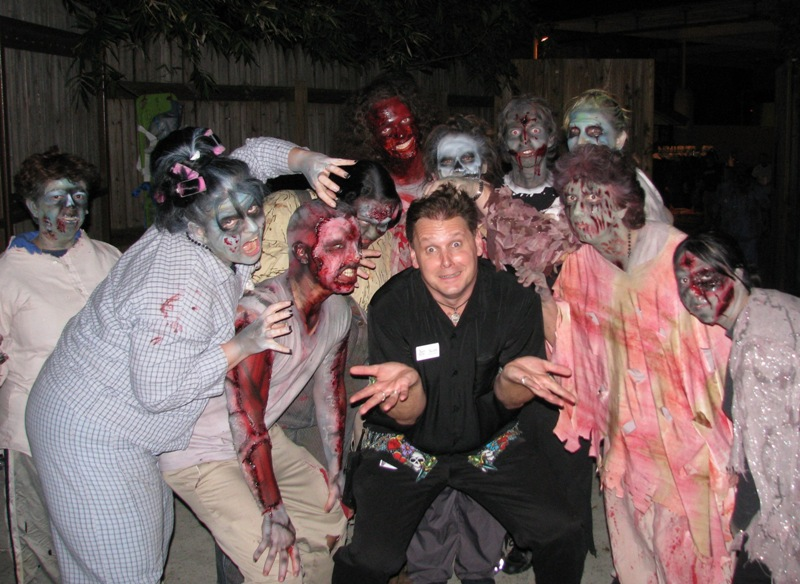 Scott with some 2008 Howl-O-Scream Zombies